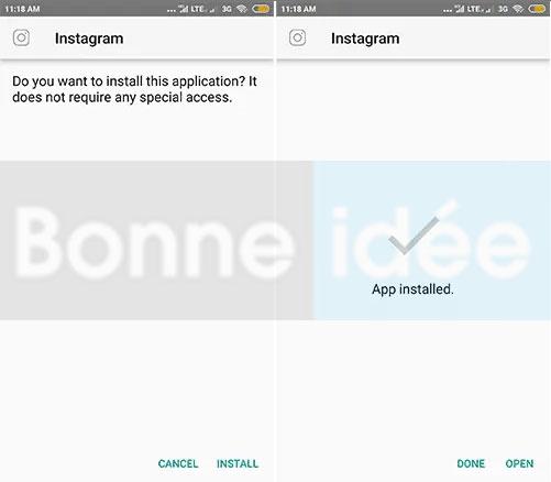 GB Instagram Transparent Prime apk installer