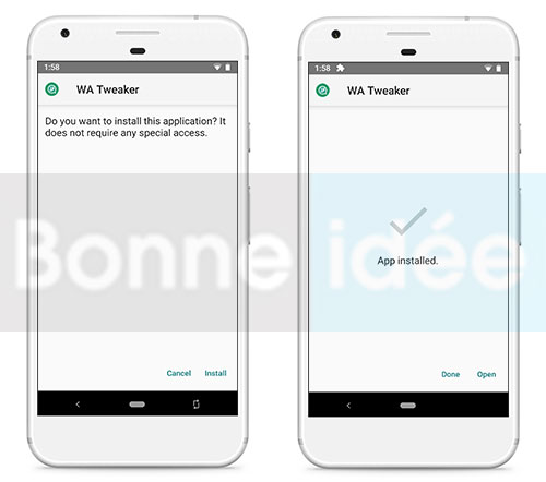 installer wa tweaker sur Android