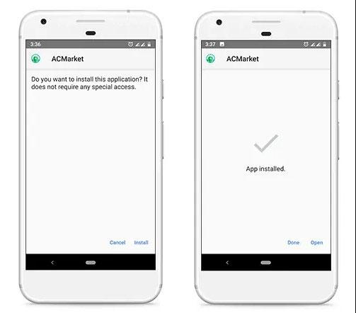 installer acmarket sur android