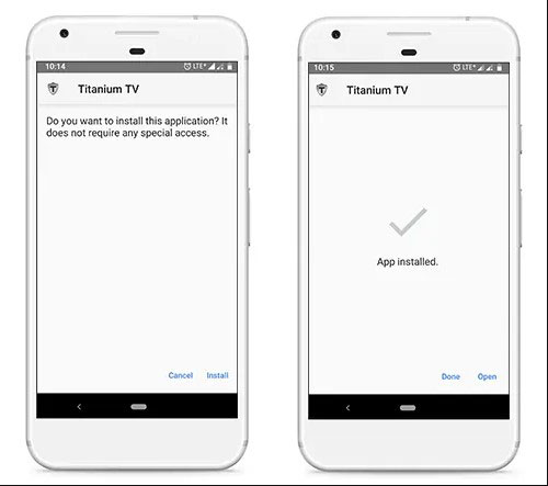 installer titanium tv apk sur android