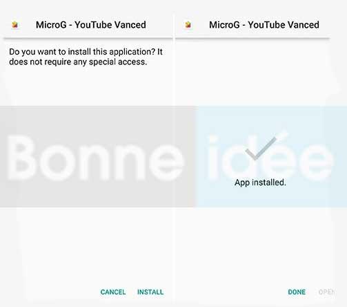 microg pour youtube vanced