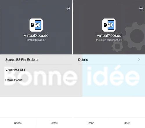 Installation VirtualXposed