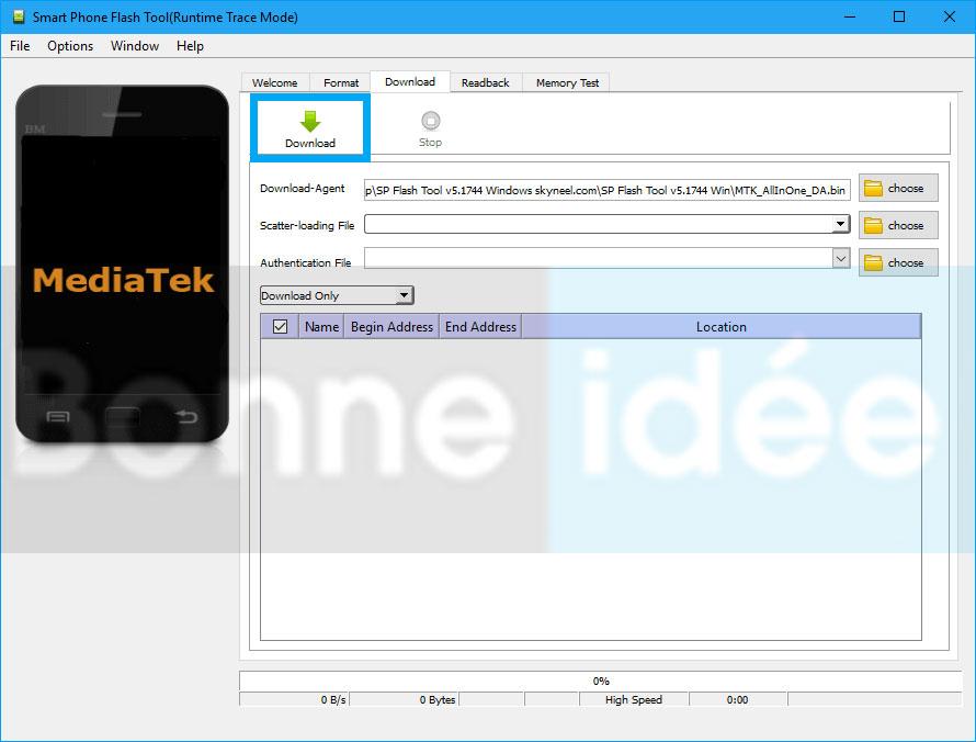 Télécharger et installer SP Flash Tool 1