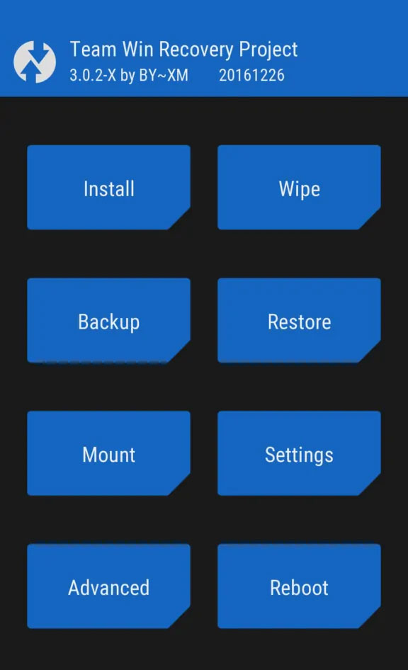 ZCX twrp recovery