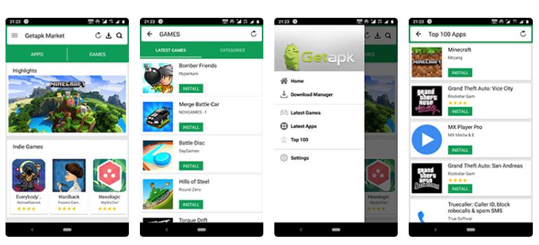 Capture d'écran de GetApk Market