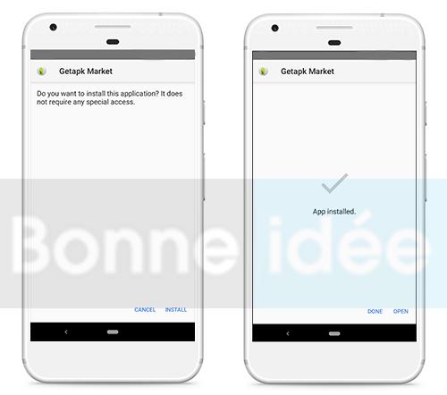 Installer GetApk Market Apk sur Android
