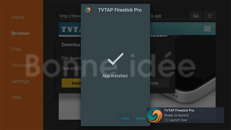 Ouvrer Application Tvtap Pro sur firestick et firetv