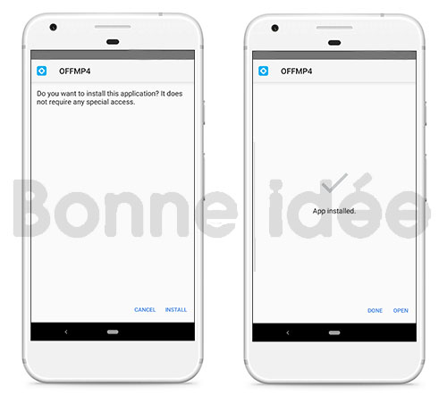 installer offmp4 apk sur android