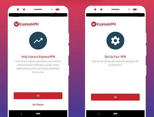 créé un compte sur app expressvpn mod
