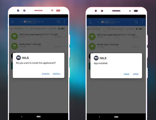 installer imls apk sur android