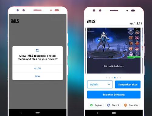 ouvrir légendes mobiles en utilisant IMLS APK