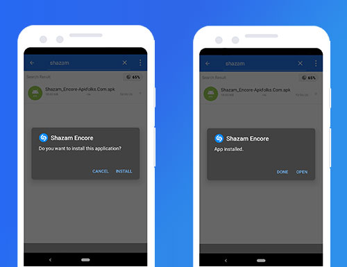 comment installer shazam encore apk sur android